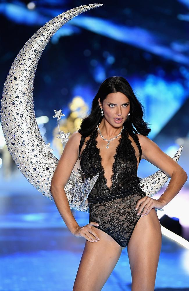 Adriana Lima strutted the VS runway for the final time. Picture: Getty Images for Victoria's Secret