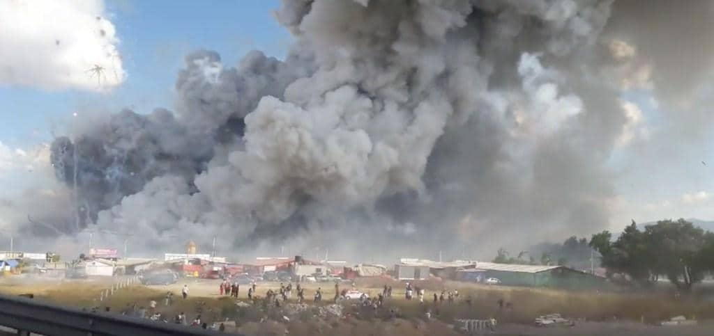 Dramatic video shows enormous explosion in Mexican fireworks tragedy