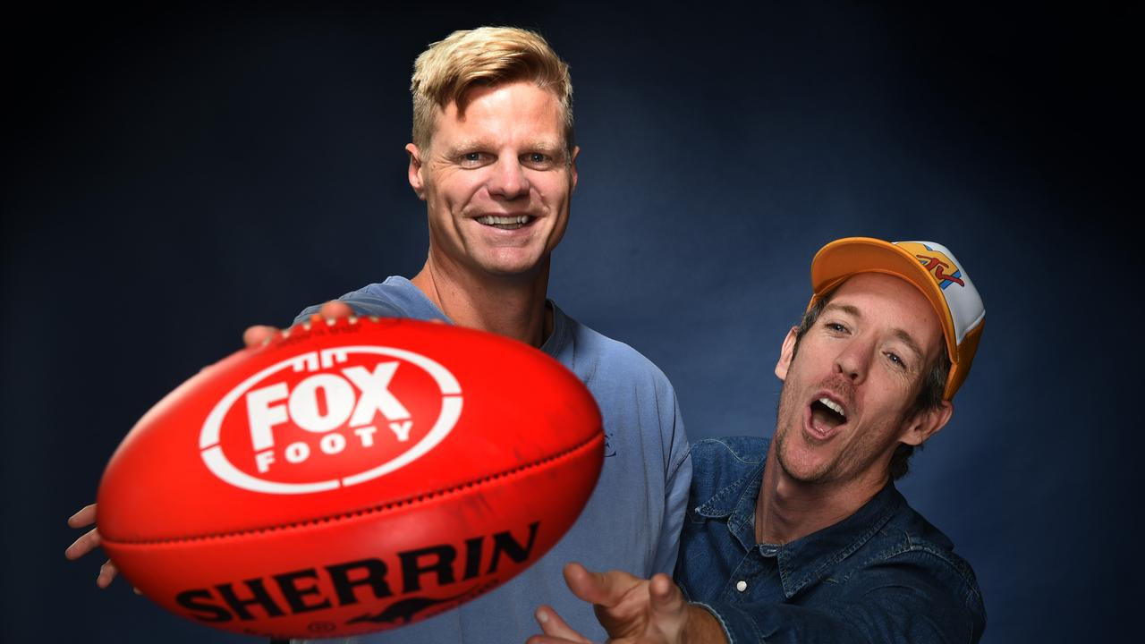 AFL 360 family members Bob Murphy and Nick Riewoldt. Picture: Tony Gough