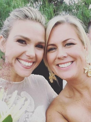 Among her 160 wedding guests was fellow Sunrise co-host Samantha Armytage.