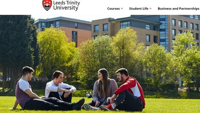 Leeds Trinity University staff were told not to use frightening capital letters.