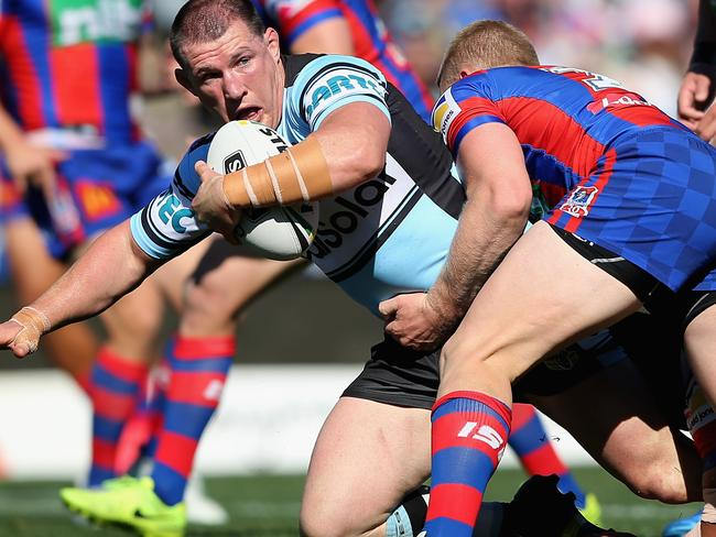 Paul Gallen was the Sharks' best.