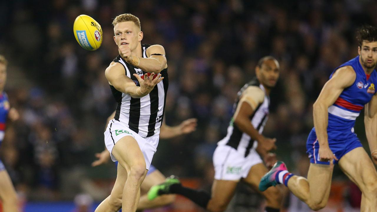 Would Adam Treloar fit in at the Bulldogs. Picture: Michael Klein