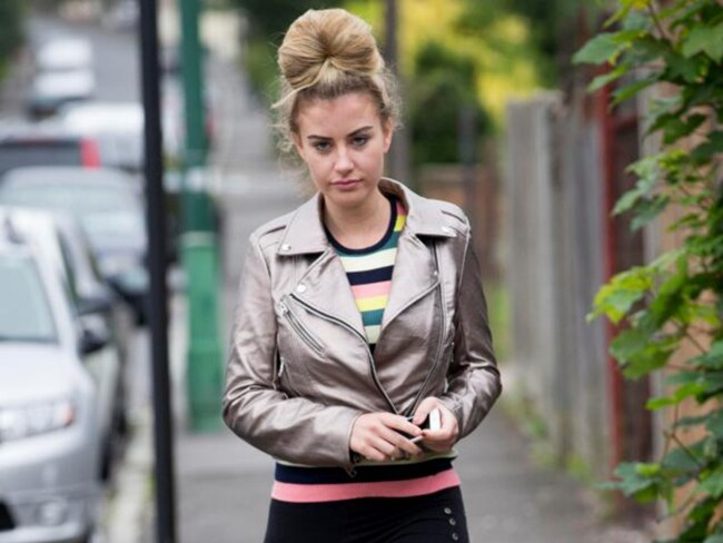 Model Chloe Ayling pictured leaving her Coulsdon home. Photo: Dan Charity/The Sun