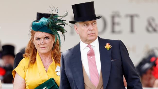 Prince Andrew and ex wife Sarah Ferguson. She is said to be his lone public supporter. Picture: Getty