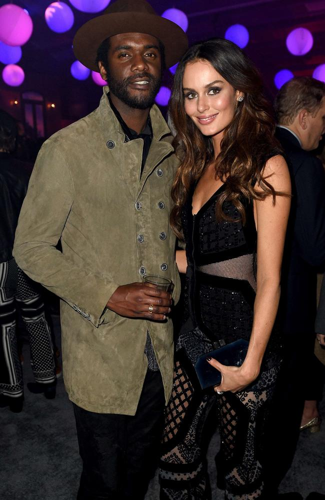Gary Clark Jr. and Nicole Trunfio. Picture: AFP