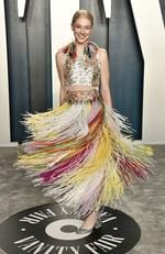 Hunter Schafer attends the 2020 Vanity Fair Oscar Party hosted by Radhika Jones at Wallis Annenberg Center for the Performing Arts on February 09, 2020 in Beverly Hills, California. Frazer Harrison/Getty Images/AFP