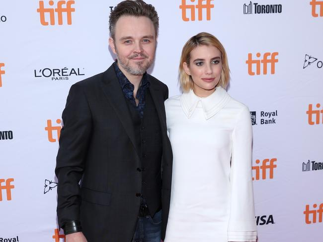 "Matthew Newton, pictured with Emma Roberts, says he has spent the past six years living ""a quiet and sober life"". Picture: Getty."