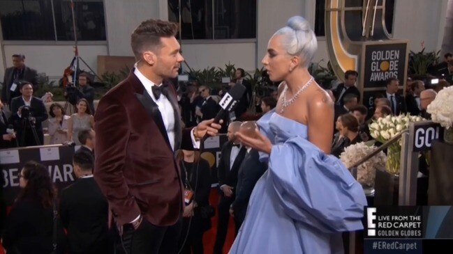 Lady Gaga at the 2019 Golden Globes talks about fluffing her lines in A Star is Born