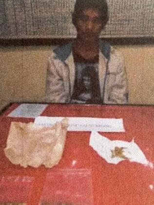 Arrested...Ben Panangian has been charged with possession of marijuana in Bali Picture: Supplied.