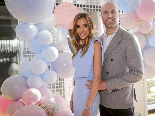 Bec Judd pictured with husband Chris Judd. Picture: Wayne Taylor