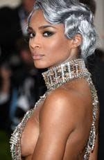 "Ciara arrives at The Metropolitan Museum of Art Costume Institute Benefit Gala, celebrating the opening of ""Manus x Machina: Fashion in an Age of Technology"" on Monday, May 2, 2016, in New York. Picture: Evan Agostini/Invision/AP"