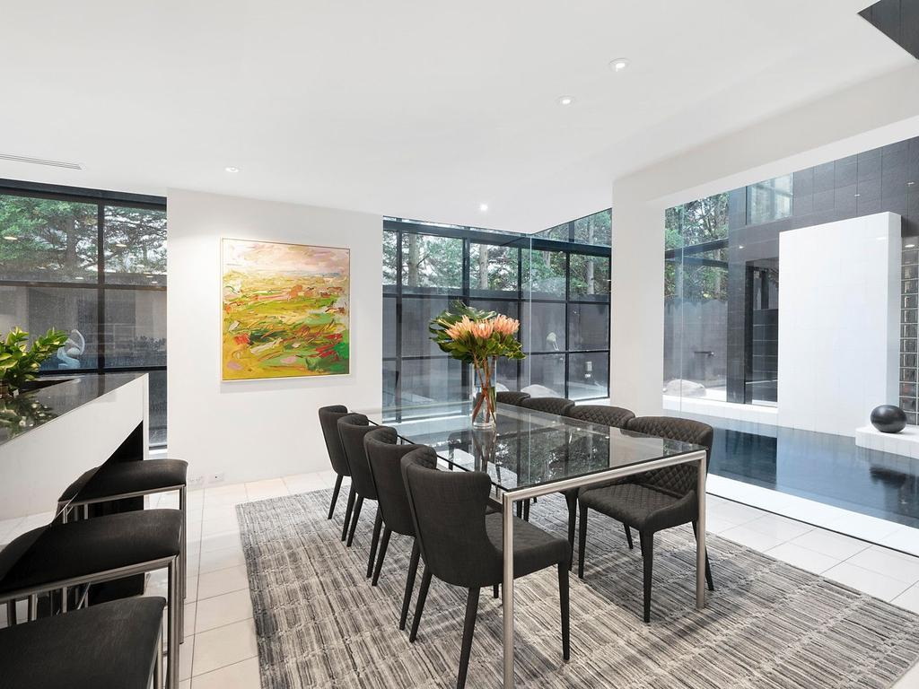The sprawling Toorak home was designed by architect Nic Bochsler in the 1980s. Picture: Supplied