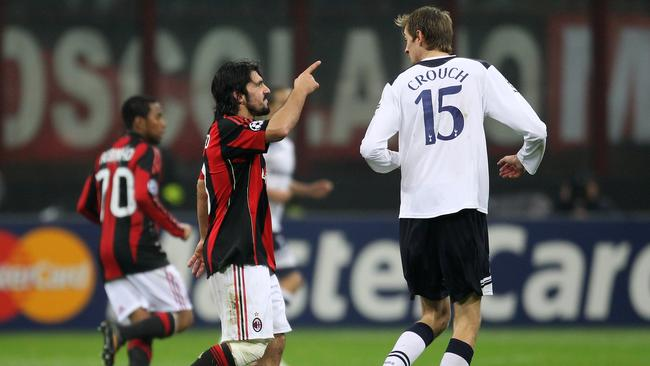 Gattuso sizes up Peter Crouch.