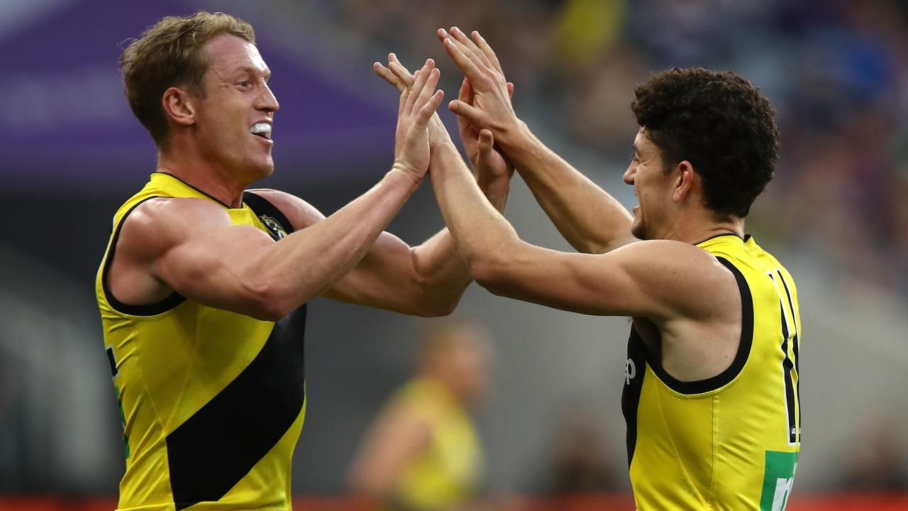 Richmond rolled over Fremantle in the west, despite having just two fit men on the bench for most of the game. (Photo by Paul Kane/Getty Images)