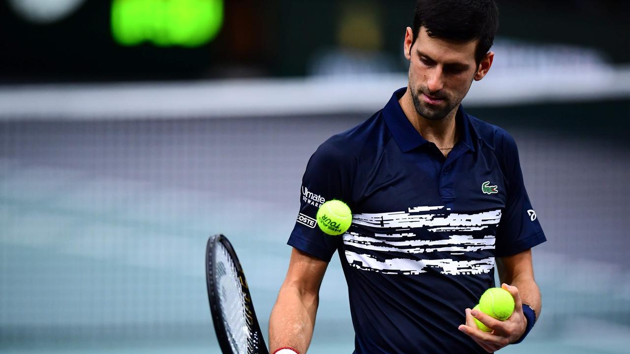 Serbia's Novak Djokovic defeated Stefanos Tsitsipas.