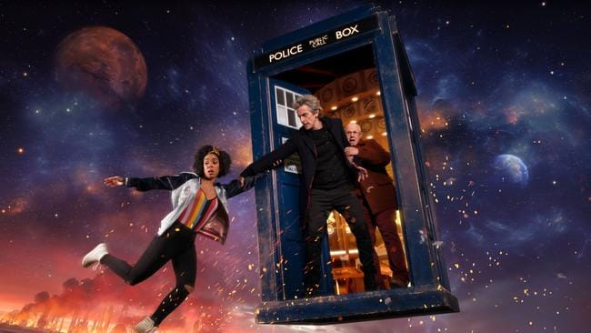 Season 10 will feature Pearl Mackie as Bill, Peter Capaldi as The Doctor and Matt Lucas as Nardole Picture: BBC/Des Willie