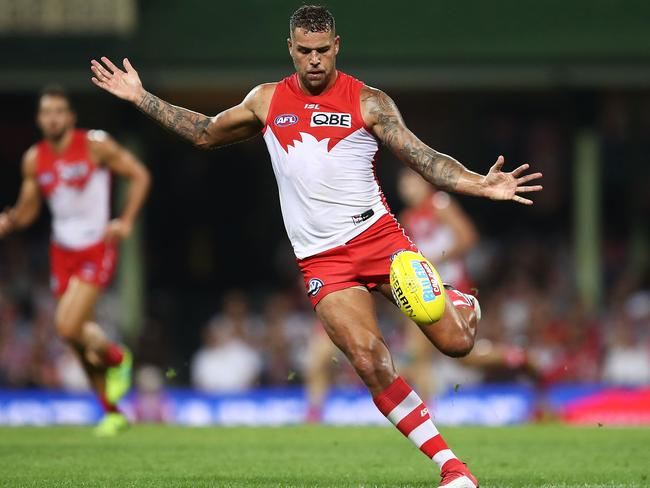 Lance Franklin's ability to set up teammates is one of his greatest assets.