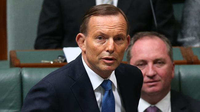 Delivery ... Tony Abbott says it's been a year of delivery for his government. Picture: Kym Smith/News Corp.