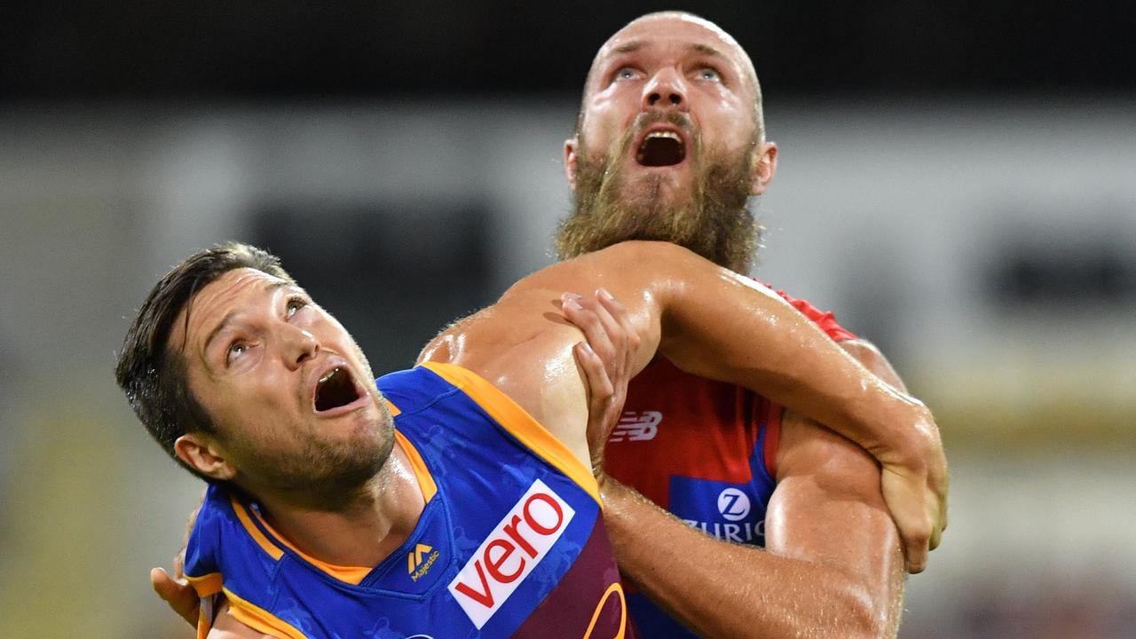 Stefan Martin and Max Gawn are two of the early contenders for the All-Australian ruck spot. (AAP Image/Darren England)
