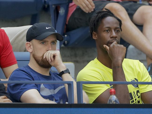 Gael Monfils (right). (AP Photo/Frank Franklin II)