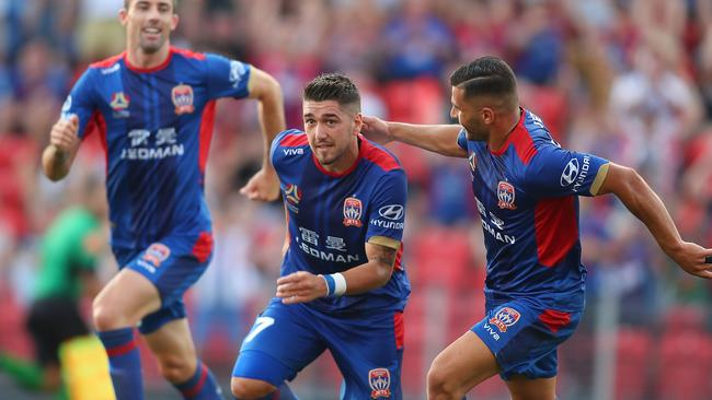 Dimitri Petratos was the Jets' hero again. (Tony Feder/Getty Images)