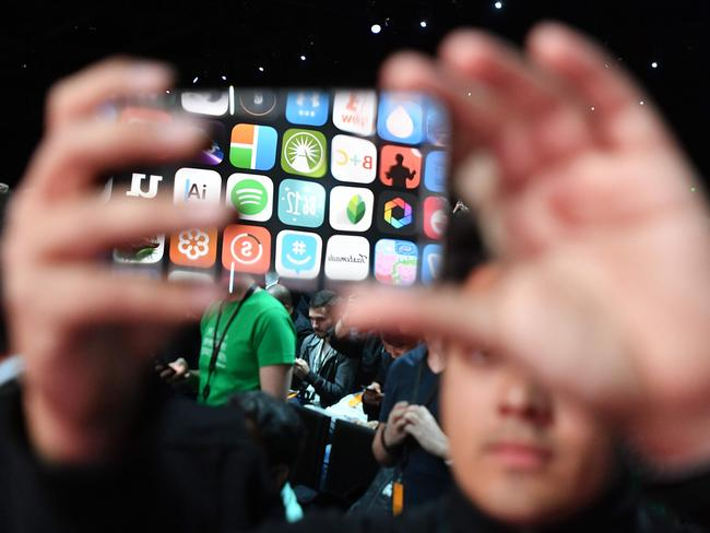 Oddly, there is a new control to help users limit their phone use. Picture: AFP/Josh Edelson