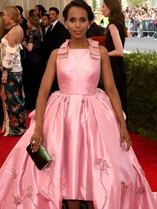 Front on ... the Scandal star. Picture: Getty Images