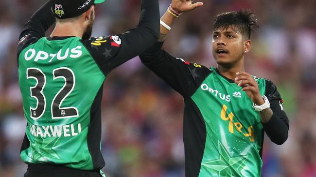 Sandeep Lamichhane is a hit across the world. Pic: AAP