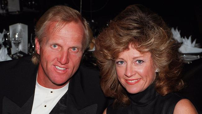 Greg Norman and Laura in 1996.