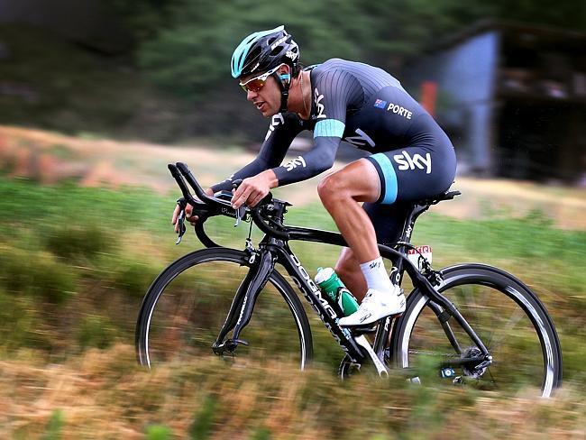 Richie Porte pushes the pace during the Tour de France.