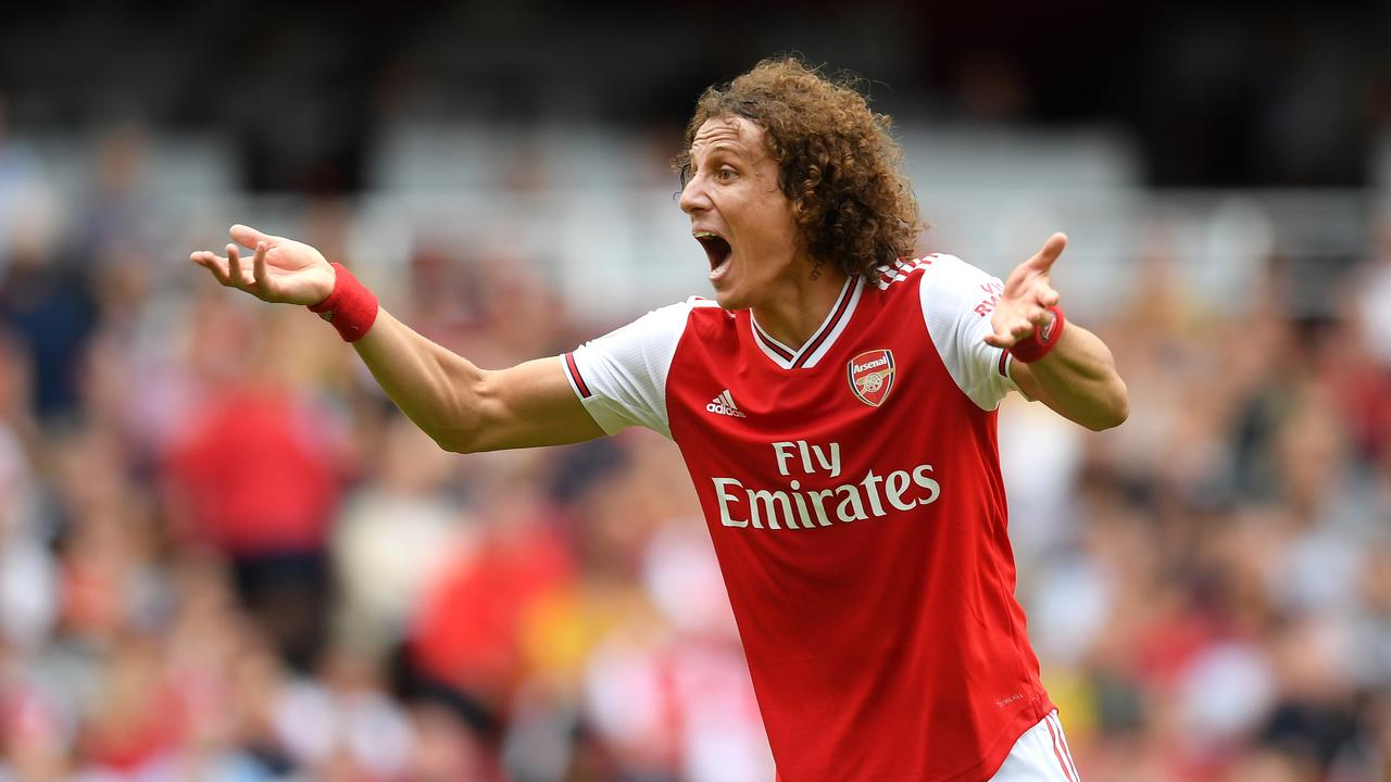 A vocal leader: David Luiz is never quiet on the pitch. (Photo by Michael Regan/Getty Images)