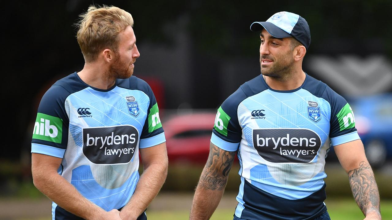 Matt Prior and Paul Vaughan of the NSW Blues.