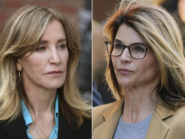 This combination photo shows actresses Felicity Huffman, left, who pleaded guilty to charges, and Lori Loughlin, who pleaded not guilty. Picture: AP Photo