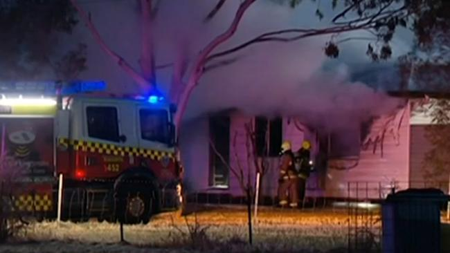 """Firefighters extinguished the """"serious"""" fire. Picture: Sky News"""