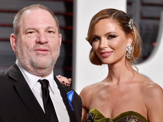 Harvey Weinstein and estranged wife Georgina Chapman. Picture: Getty