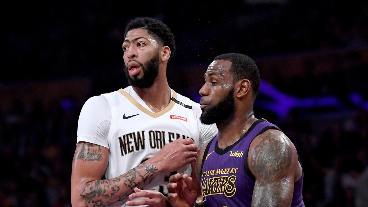 leBron James says he is not behind a Lakers push to bring Anthony Davis to LA.