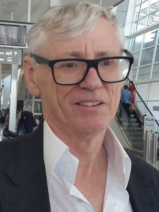 Seven West Media executive Bruce McWilliam was on the Etihad plane that landed in Adelaide Airport.