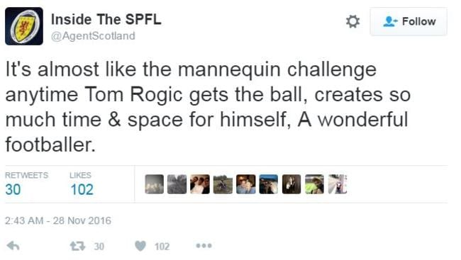 Rogic praised on Twitter.