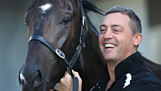 Trainer Tony Gollan was happy with Ef Troop's first-up run. Picture: Annette Dew