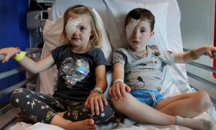 The two kids were injured by the magpie within an hour of each other at Clarko Reserve in Perth. Picture: Nic Ellis/Westpix Source:The West Australian