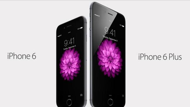"""Best phones ever made"" ... Apple has unveiled two new sleek phones — the iPhone 6 and iPhone 6 Plus. Picture: Apple"
