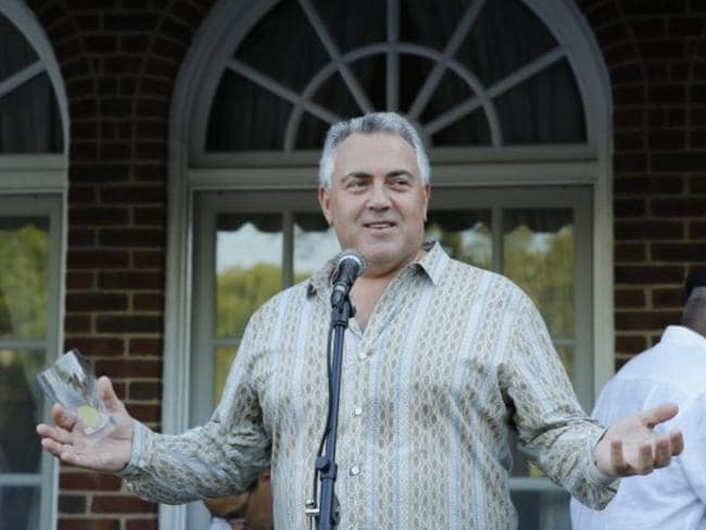 Joe Hockey at his ambassador's residence.