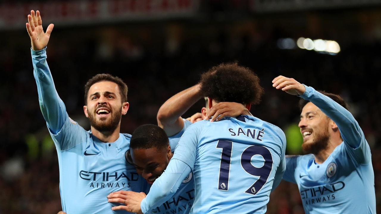 Second half goals from Leroy Sane and Bernardo Silva got City over the line