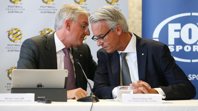FFA Chairman Steven Lowy and CEO David Gallop are set to meet with FIFA president Gianni Infantino tomorrow. Picture: AAP
