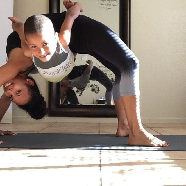 Acro Yoga Mum Crushes It With Son. Credit - isiskgarcia via Storyful