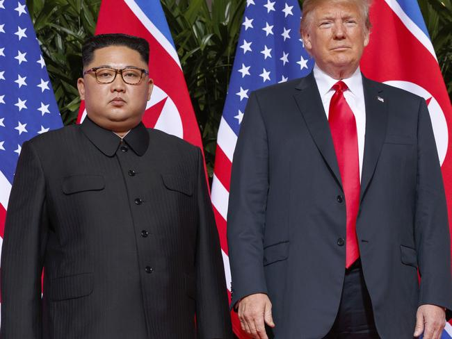 Donald Trump has boasted of great success in diplomatic relations after his summit with North Korean leader Kim Jong-un in Singapore. Picture: AP Photo/Evan Vucci, File