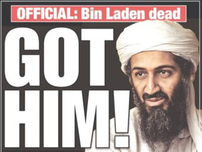 """""""Got Him!"""" The  <i>New York Post</i> ran with a simple headline on the front page of their May 2, 2011 edition."""