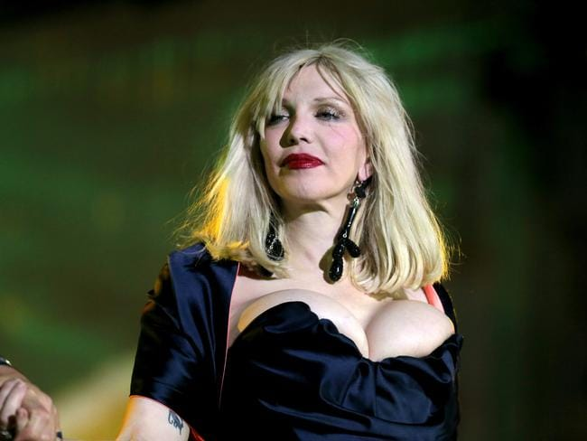 Courtney Love on stage during the Lifeball 2014. Picture: Getty Images