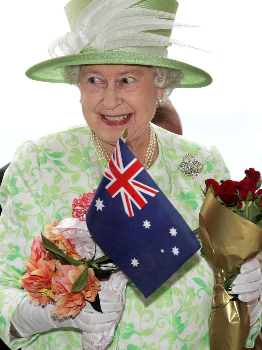 74d4b07fbe9d Queen Elizabeth II arriving for opening of the Commonwealth Games in  Melbourne